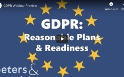 GDPR: Reasonable Plans & Readiness (Overview 1:47)