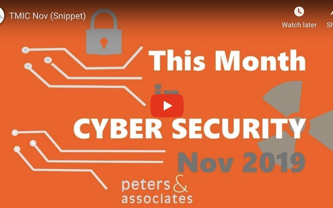 This Month in Cyber Security: November 2019 (1:42)