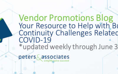 Vendor Promotions: Primary Customer Resource to Solve Business Continuity Challenges due to COVID-19